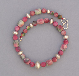 Candy Jade and Silver Necklace