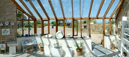 Glass-roofed Gallery - The Yew Tree Gallery